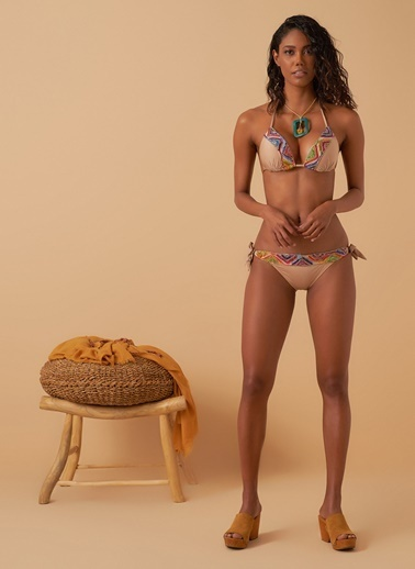 Loves You Etnik Desen Garnili Bikini Ten